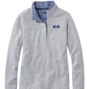 LL Bean Soft Cotton Rugby Shirt 1/4 Pullover